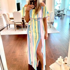 Red Dress Boutique pastel rainbow maxi dress